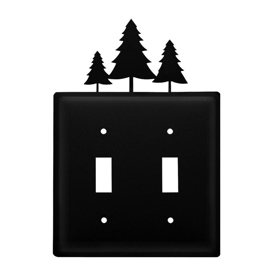 Wrought Iron Pine Trees Double Switch Cover light switch covers lightswitch covers outlet cover