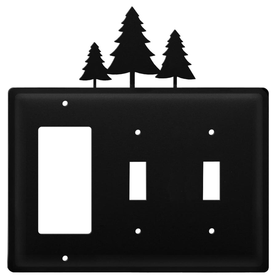 Wrought Iron Pine Trees GFCI Double Switch Cover light switch covers lightswitch covers outlet cover