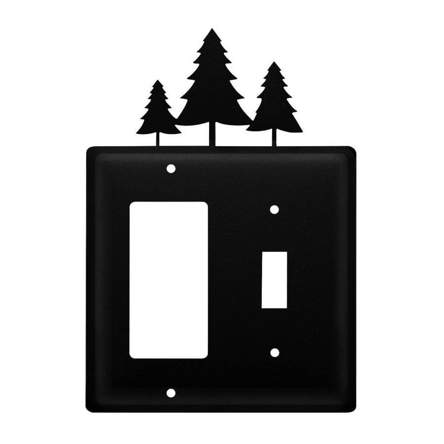 Wrought Iron Pine Trees GFCI Switch Cover light switch covers lightswitch covers outlet cover switch