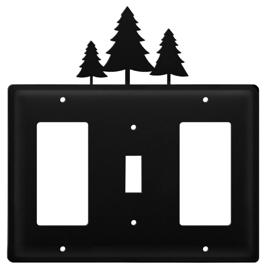 Wrought Iron Pine Trees GFCI Switch GFCI Cover light switch covers lightswitch covers outlet cover