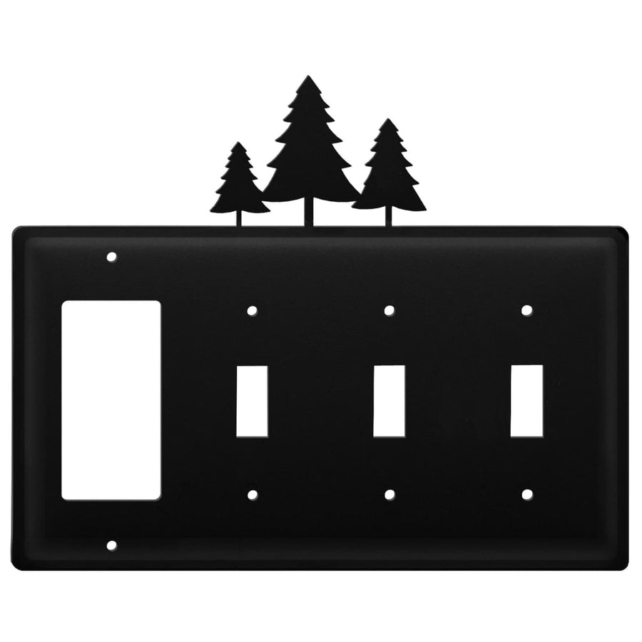 Wrought Iron Pine Trees GFCI Triple Switch Cover light switch covers lightswitch covers outlet cover
