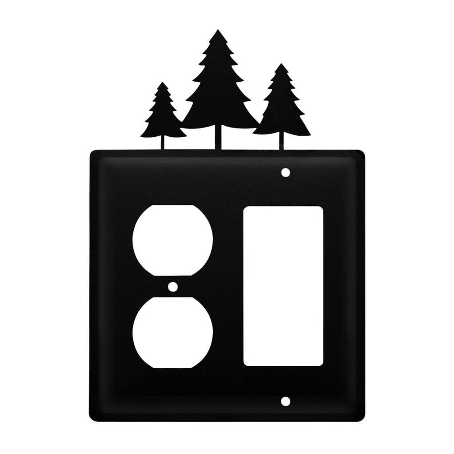 Wrought Iron Pine Trees Outlet Cover & GFCI light switch covers lightswitch covers outlet cover