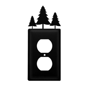 Wrought Iron Pine Trees Outlet Cover light switch covers lightswitch covers outlet cover switch