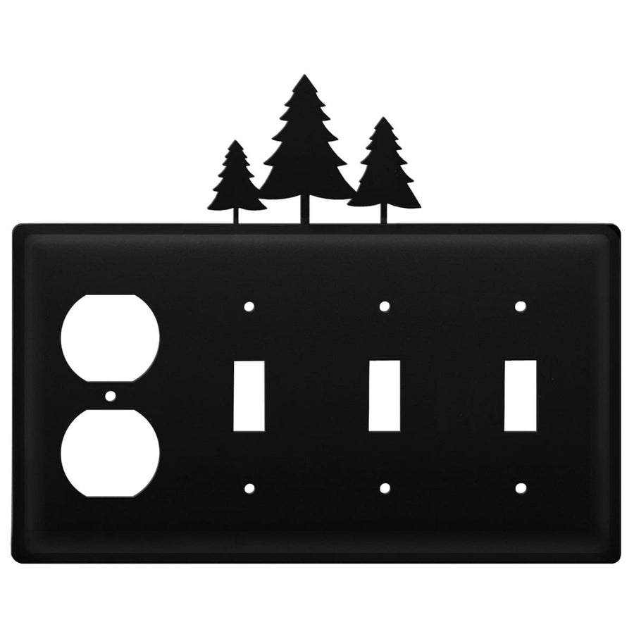 Wrought Iron Pine Trees Outlet Triple Switch Cover light switch covers lightswitch covers outlet