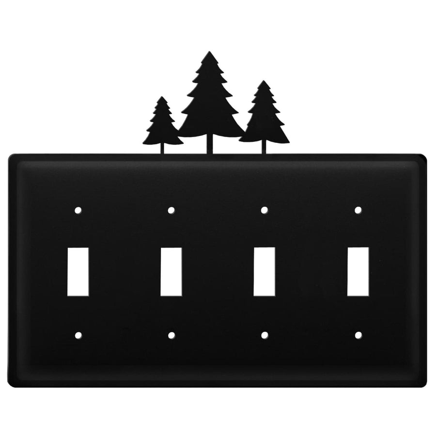 Wrought Iron Pine Trees Quad Switch Cover light switch covers lightswitch covers outlet cover switch