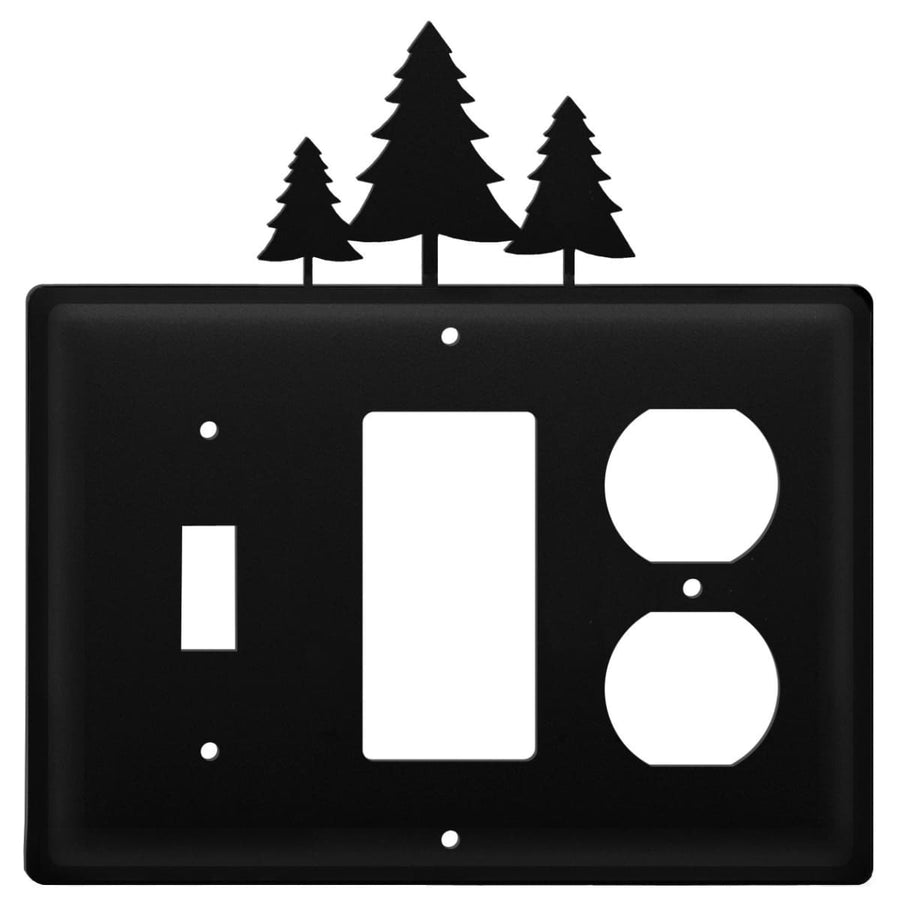 Wrought Iron Pine Trees Switch GFCI Outlet Cover light switch covers lightswitch covers outlet cover