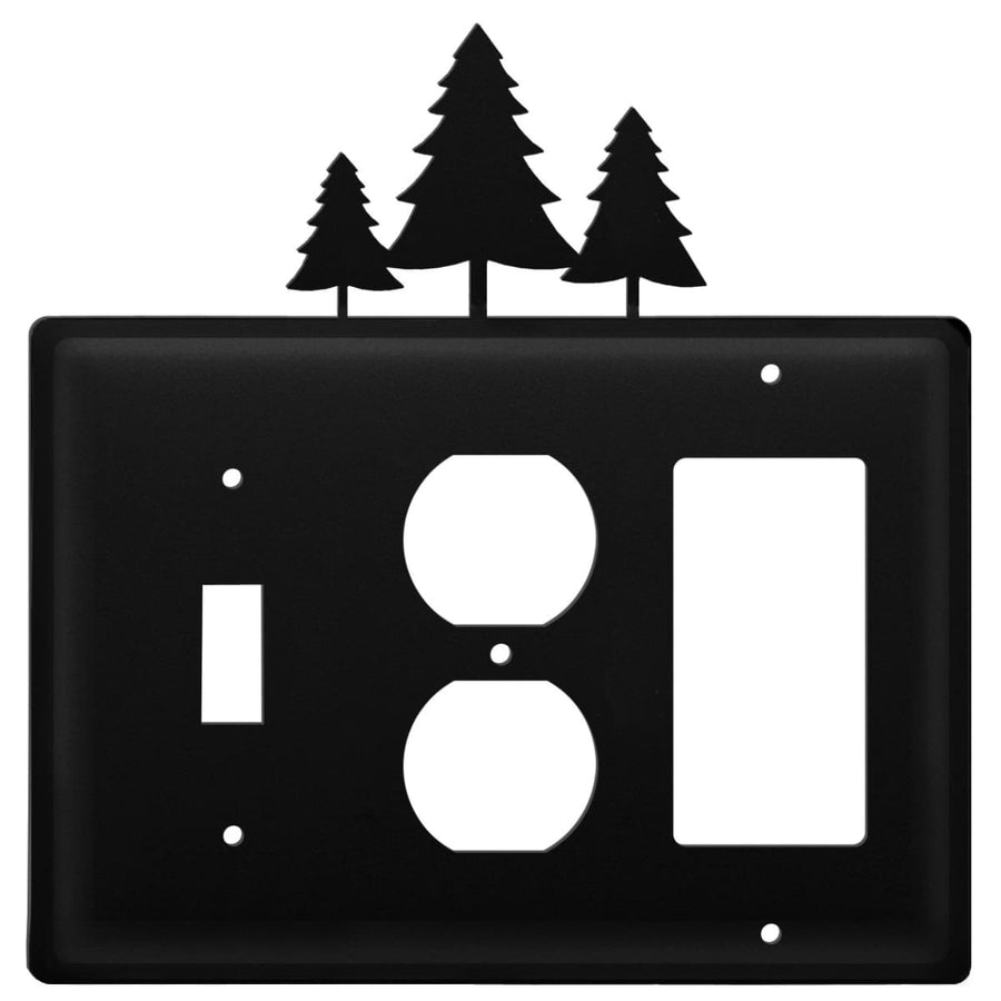 Wrought Iron Pine Trees Switch Outlet GFCI Cover light switch covers lightswitch covers outlet cover