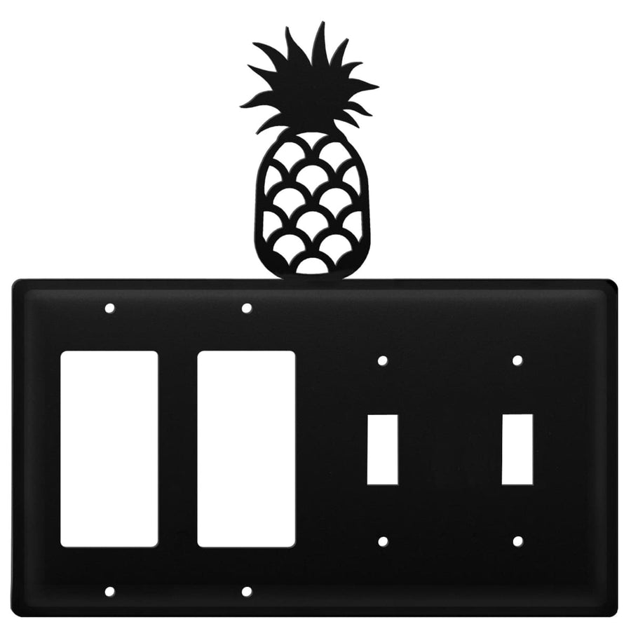 Wrought Iron Pineapple Double GFCI Double Switch Cover light switch covers lightswitch covers outlet