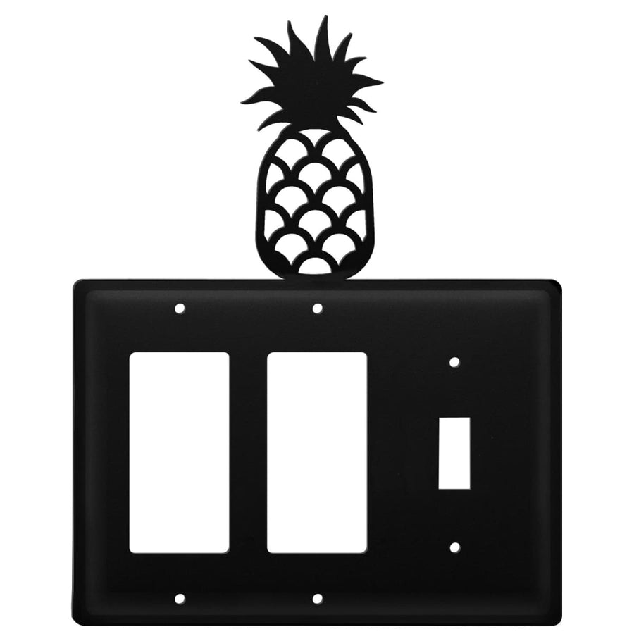 Wrought Iron Pineapple Double GFCI Switch Cover light switch covers lightswitch covers outlet cover