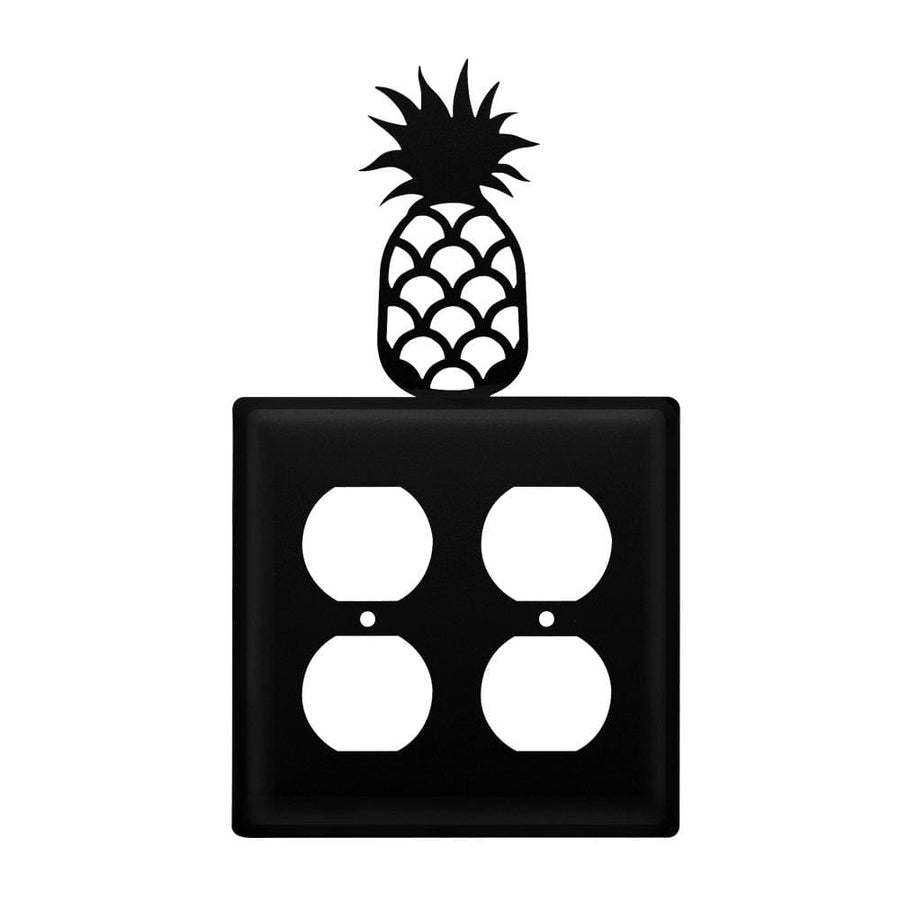 Wrought Iron Pineapple Double Outlet Cover light switch covers lightswitch covers outlet cover