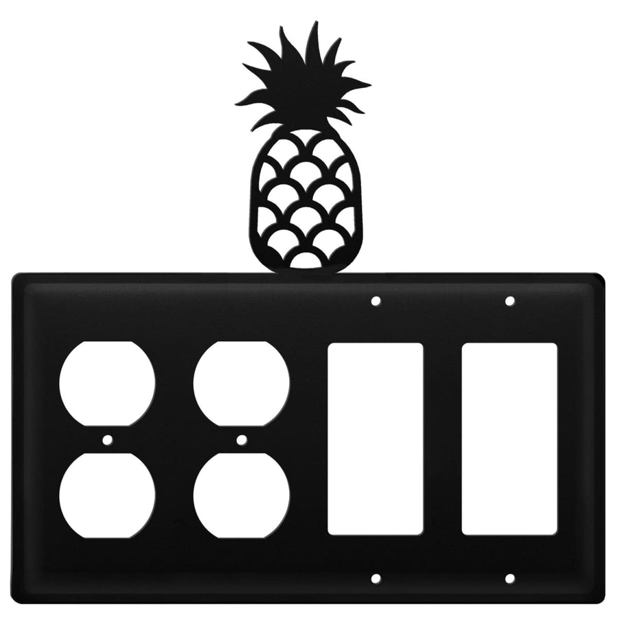 Wrought Iron Pineapple Double Outlet Double GFCI Cover light switch covers lightswitch covers outlet