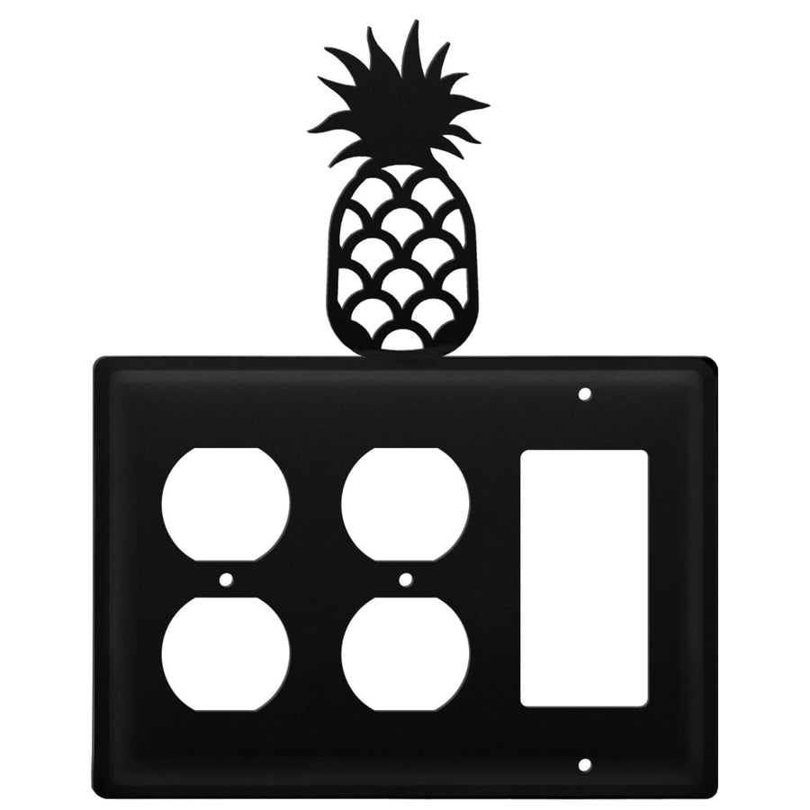 Wrought Iron Pineapple Double Outlet GFCI Cover light switch covers lightswitch covers outlet cover