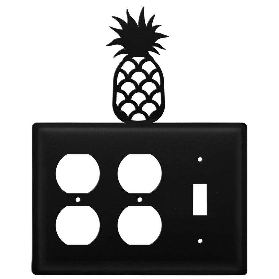 Wrought Iron Pineapple Double Outlet Switch Cover light switch covers lightswitch covers outlet