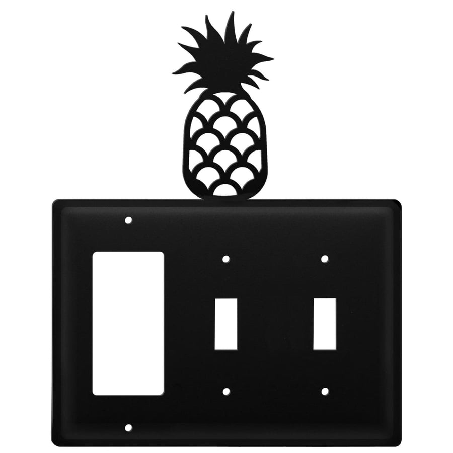 Wrought Iron Pineapple GFCI Double Switch Cover light switch covers lightswitch covers outlet cover