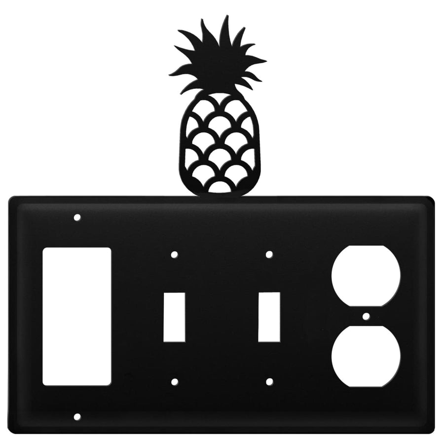 Wrought Iron Pineapple GFCI Double Switch Outlet Cover light switch covers lightswitch covers outlet