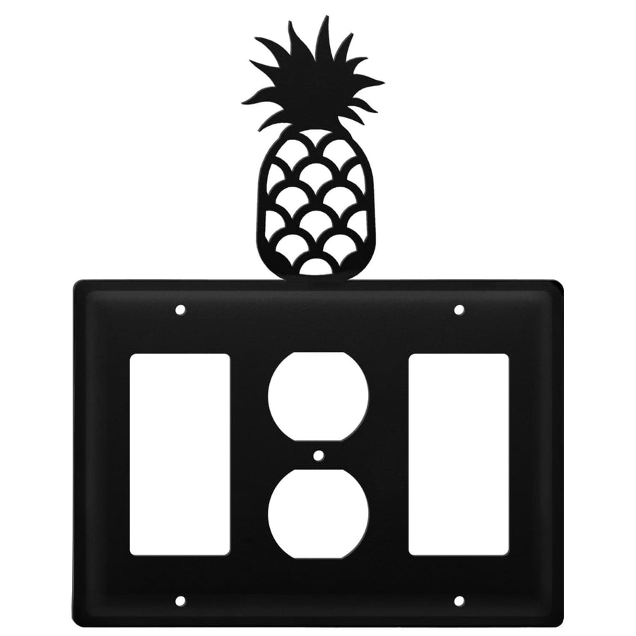 Wrought Iron Pineapple GFCI Outlet GFCI Cover light switch covers lightswitch covers outlet cover