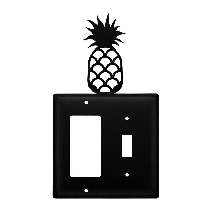 Wrought Iron Pineapple GFCI Switch Cover light switch covers lightswitch covers outlet cover switch