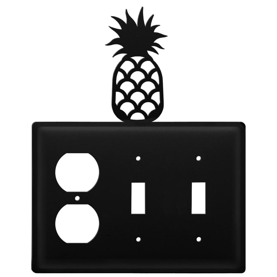 Wrought Iron Pineapple Outlet Double Switch Cover light switch covers lightswitch covers outlet