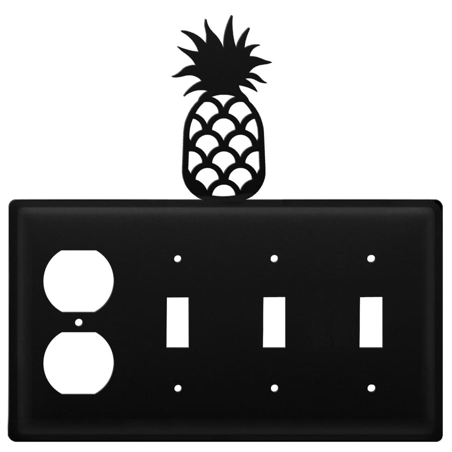 Wrought Iron Pineapple Outlet Triple Switch Cover light switch covers lightswitch covers outlet