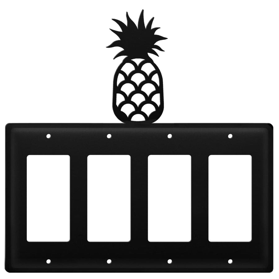 Wrought Iron Pineapple Quad GFCI Cover light switch covers lightswitch covers outlet cover switch