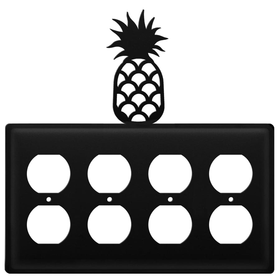 Wrought Iron Pineapple Quad Outlet Cover light switch covers lightswitch covers outlet cover switch