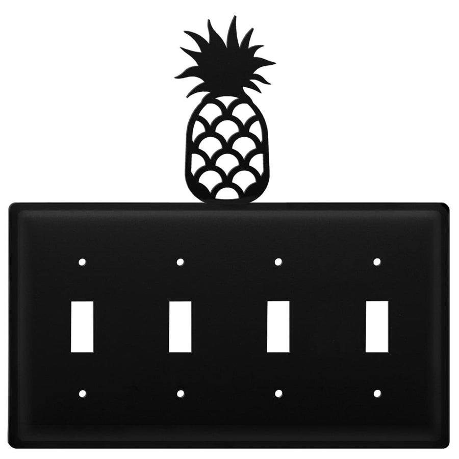 Wrought Iron Pineapple Quad Switch Cover light switch covers lightswitch covers outlet cover switch