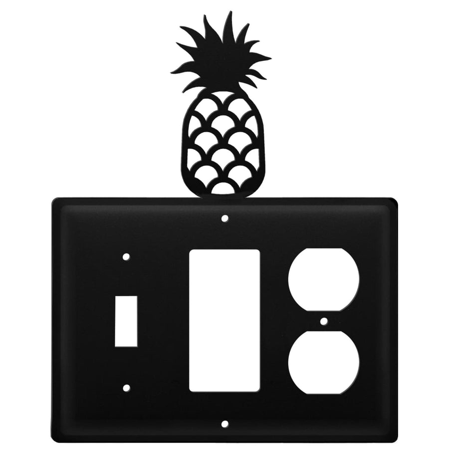 Wrought Iron Pineapple Switch GFCI Outlet Cover light switch covers lightswitch covers outlet cover