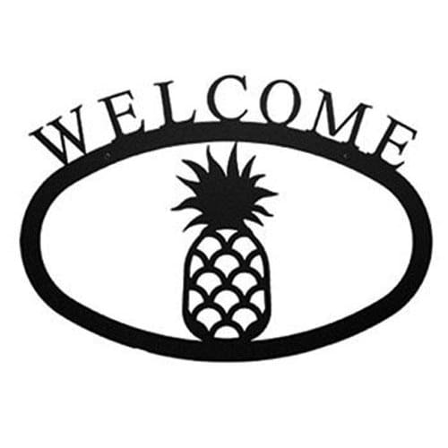 Wrought Iron Pineapple Welcome Home Sign Large door signs outdoor signs welcome home sign welcome