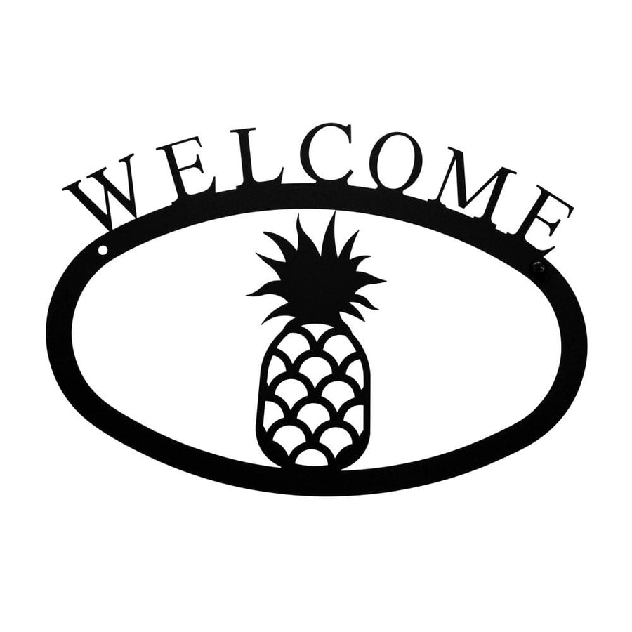 Wrought Iron Pineapple Welcome Home Sign Small door signs outdoor signs welcome home sign welcome