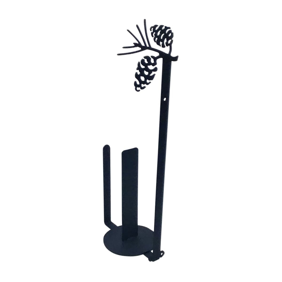 Wrought Iron Pinecone Vertical Wall Paper Towel Holder kitchen towel holder paper towel dispenser