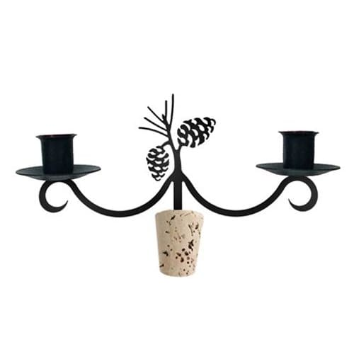 Wrought Iron Pinecone Wine Bottle Topper candelabra candelabrum candle holder romantic candelabra