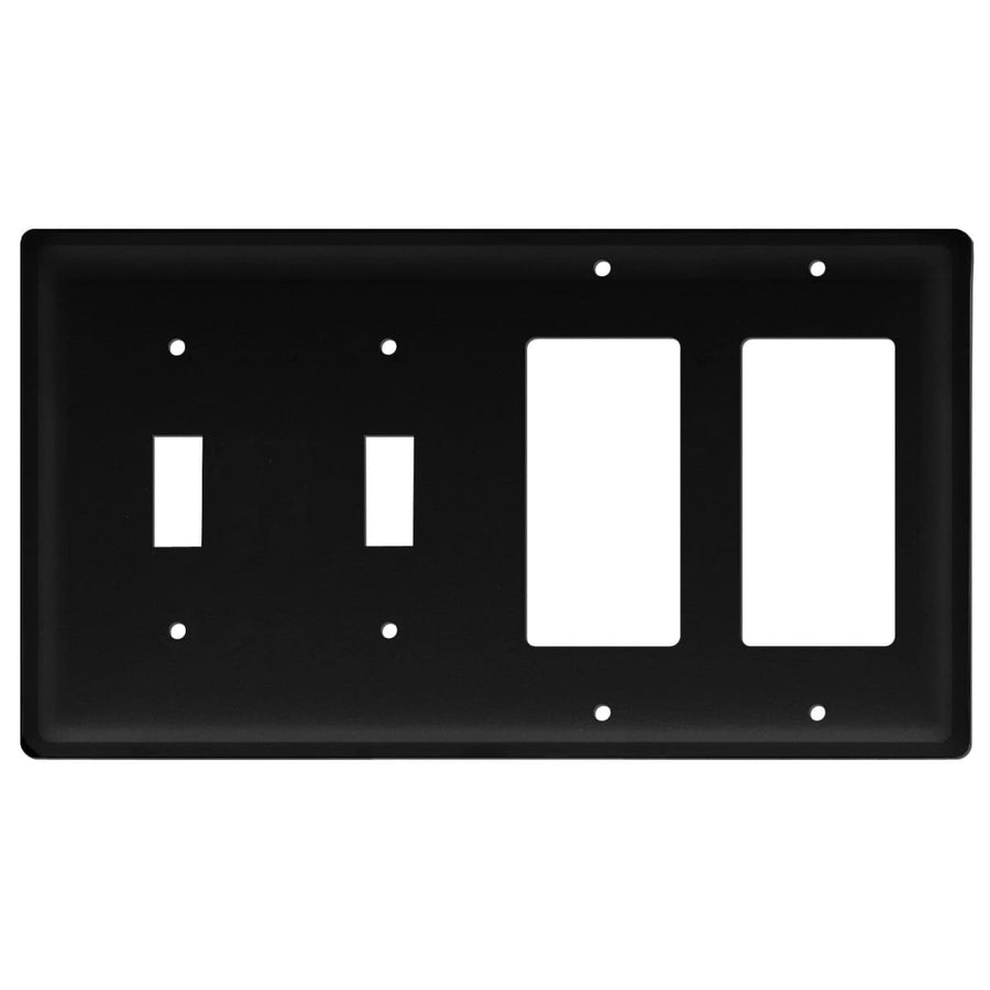 Wrought Iron Plain Double GFCI Double Switch Cover light switch covers lightswitch covers outlet