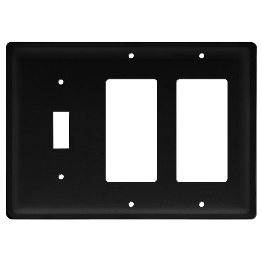 Wrought Iron Plain Double GFCI Switch Cover light switch covers lightswitch covers outlet cover