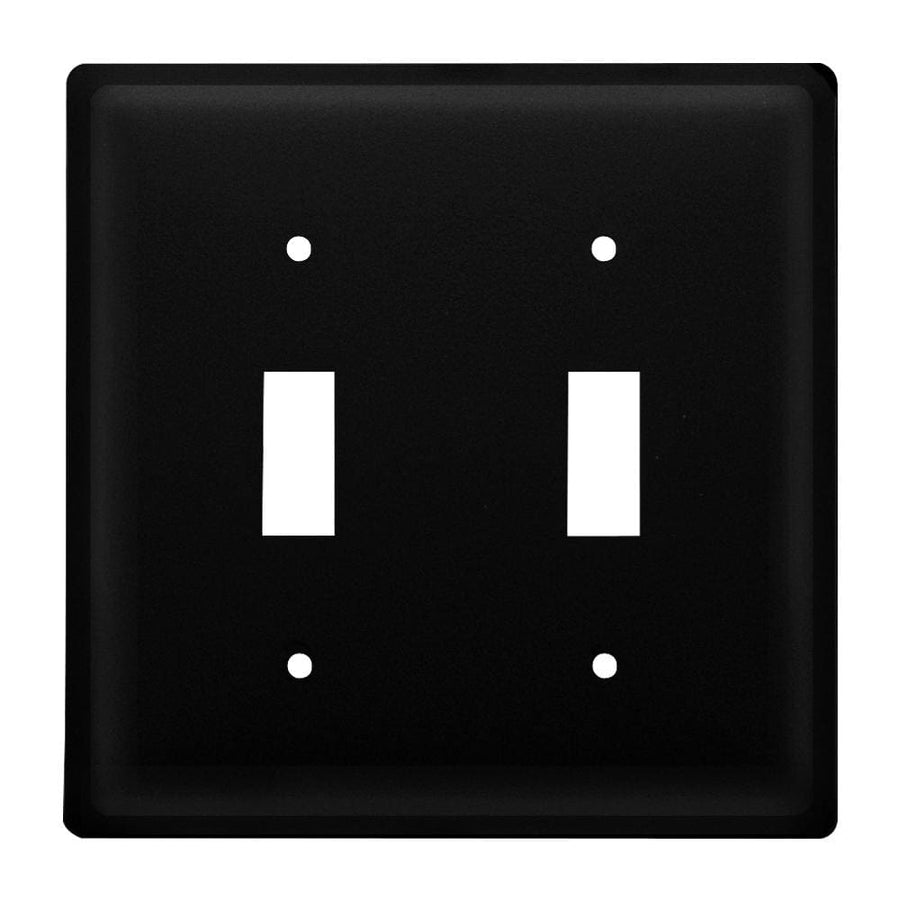Wrought Iron Plain Double Switch Cover light switch covers lightswitch covers outlet cover switch