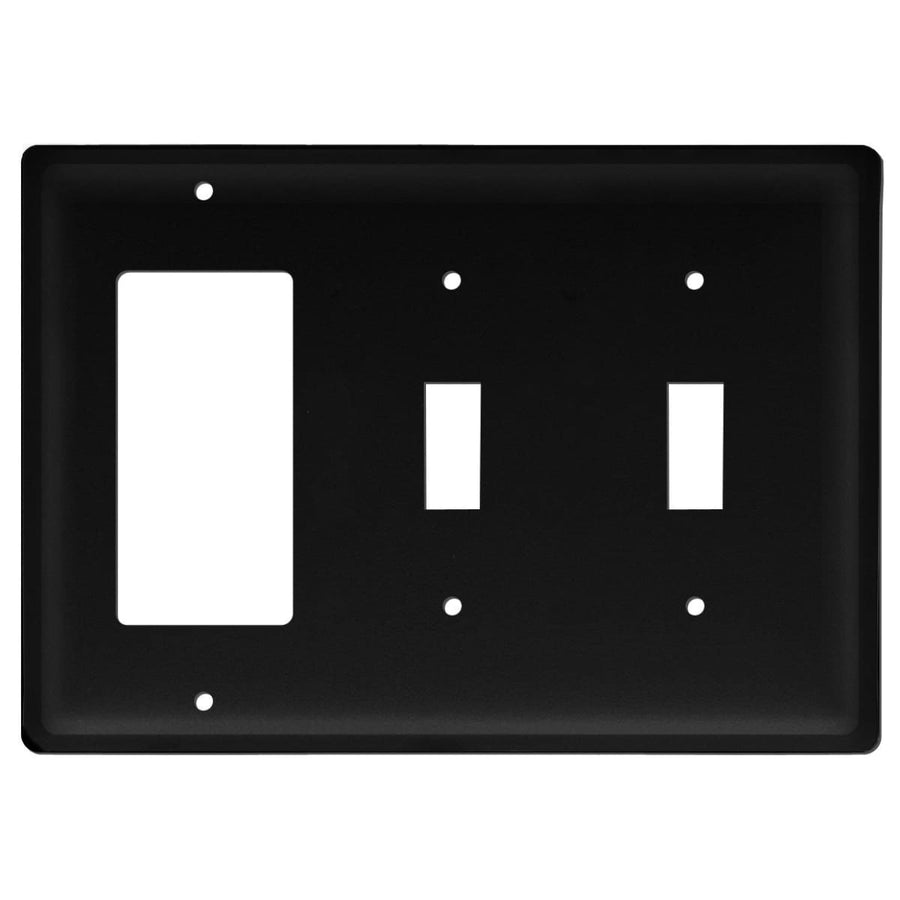 Wrought Iron Plain Double Switch GFCI Cover light switch covers lightswitch covers outlet cover