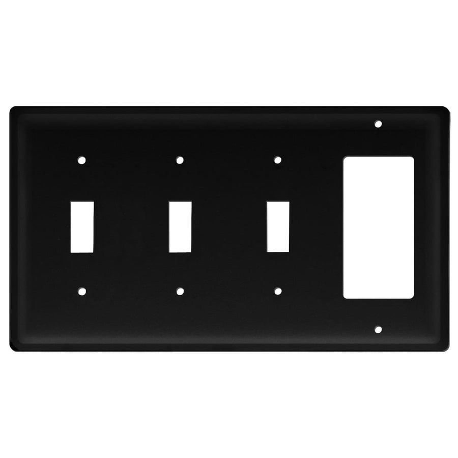 Wrought Iron Plain GFCI Triple Switch Cover light switch covers lightswitch covers outlet cover