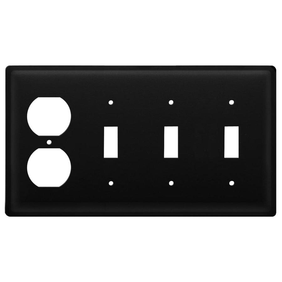 Wrought Iron Plain Outlet Triple Switch Cover light switch covers lightswitch covers outlet cover
