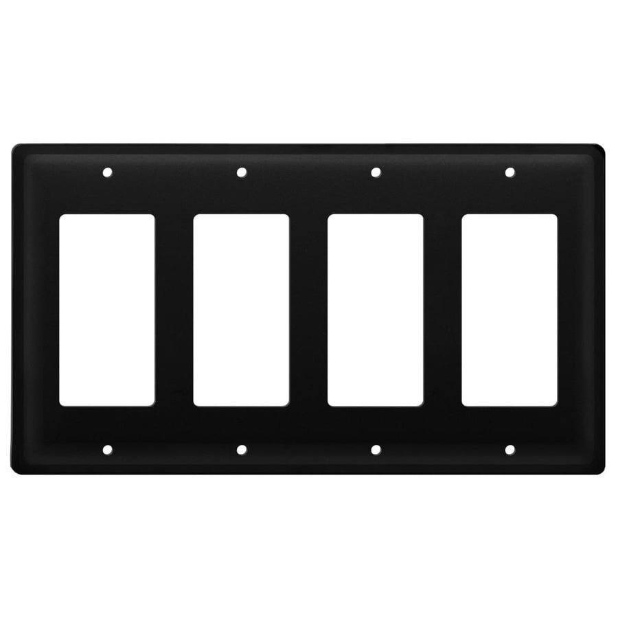 Wrought Iron Plain Quad GFCI Cover light switch covers lightswitch covers outlet cover switch covers