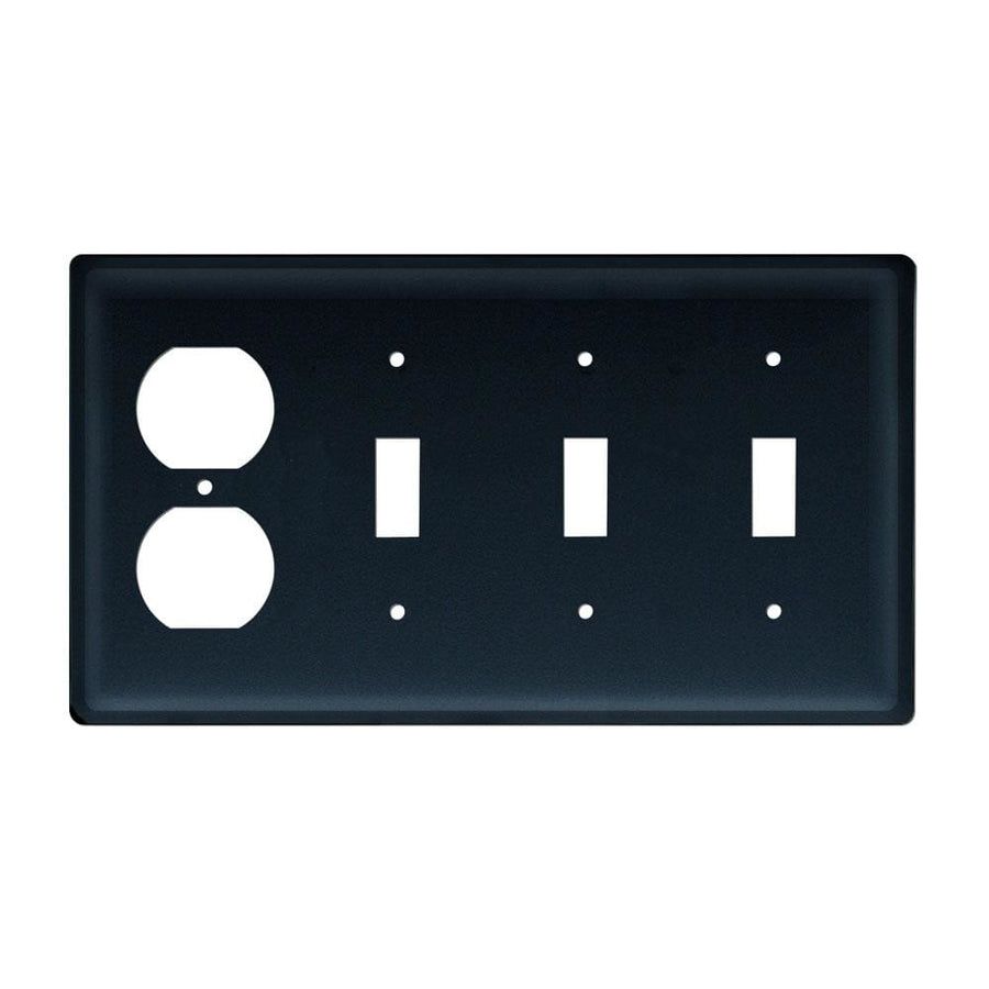 Wrought Iron Plain Triple Switch & Single Outlet new outlet cover Wrought Iron Plain Triple Switch &