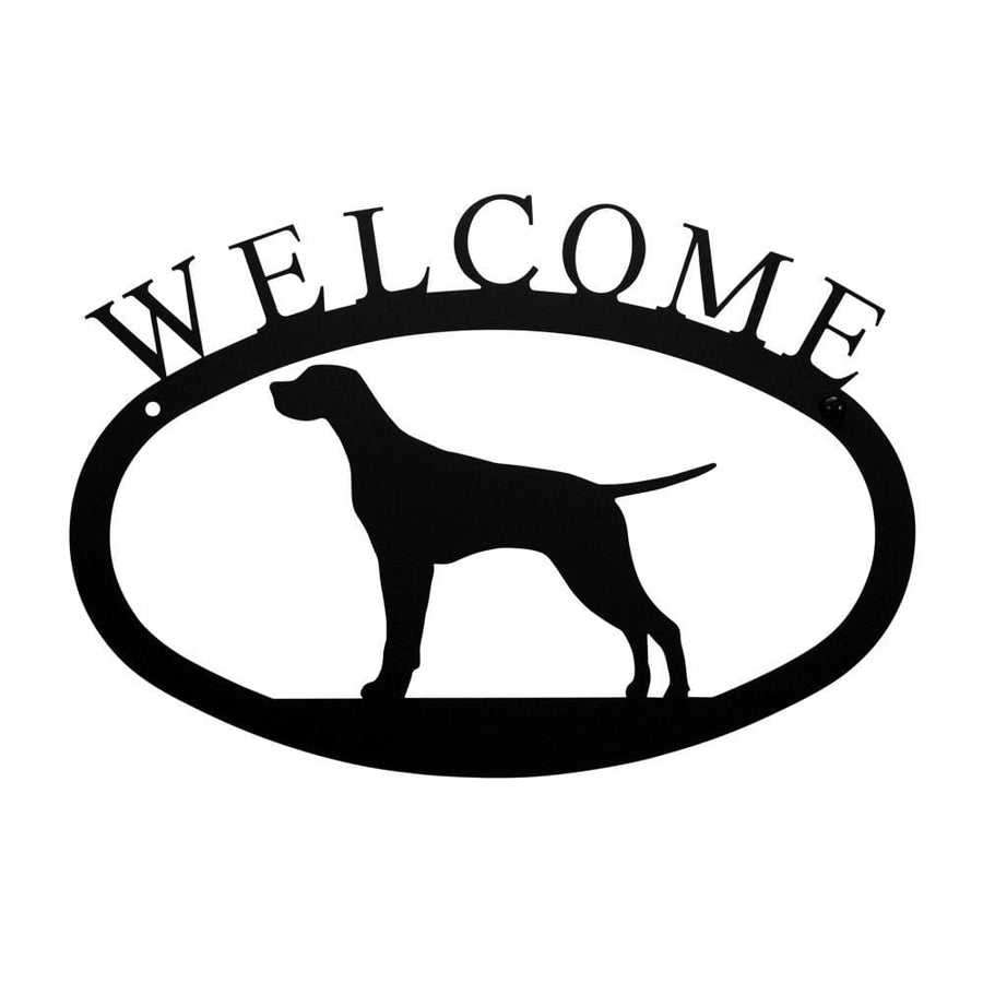 Wrought Iron Pointer Dog Welcome Home Sign Small door signs outdoor signs welcome home sign welcome