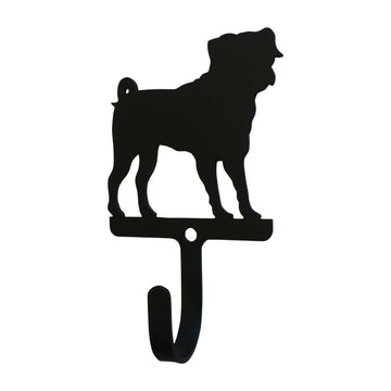 Wrought Iron Pug Dog Wall Hook Decorative Small new Pug Dog Wall Hook wall hook Wrought Iron Pug Dog