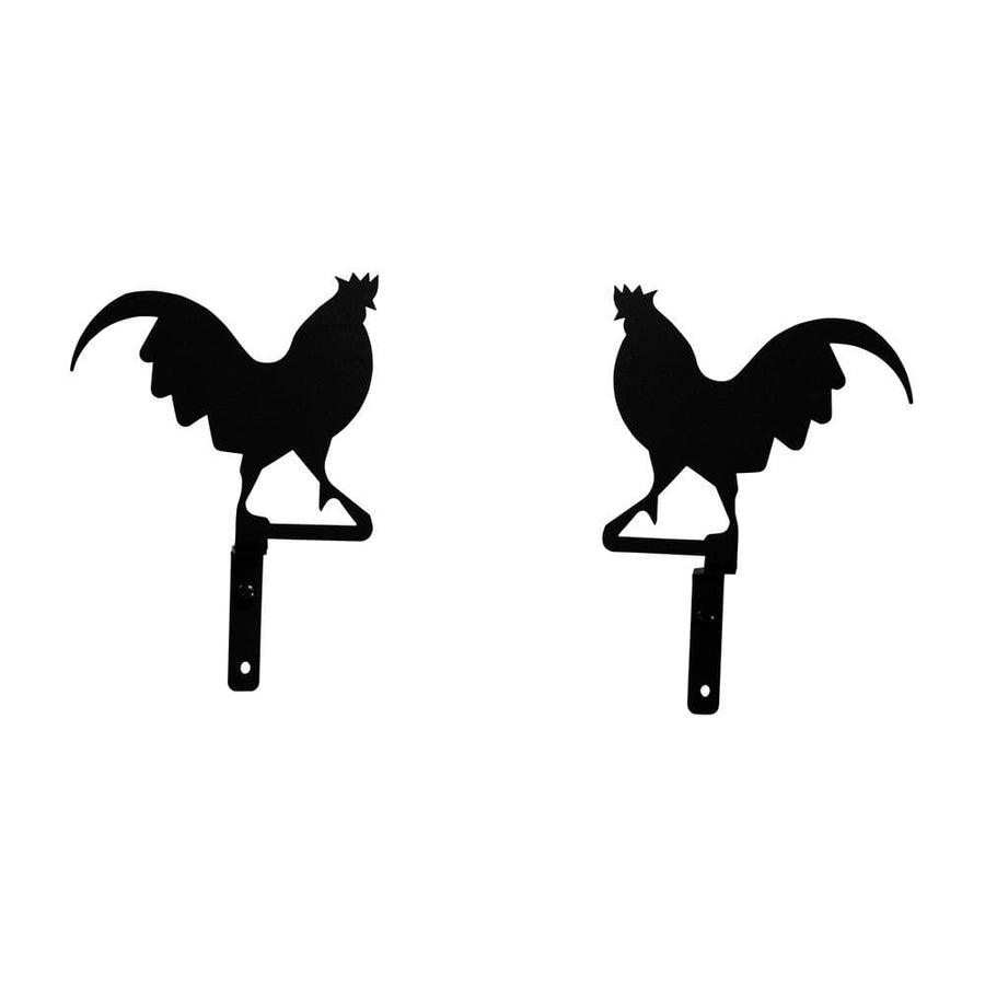 Wrought Iron Rooster Curtain Swag Set curtain hardware curtain holdbacks curtain swags swag window