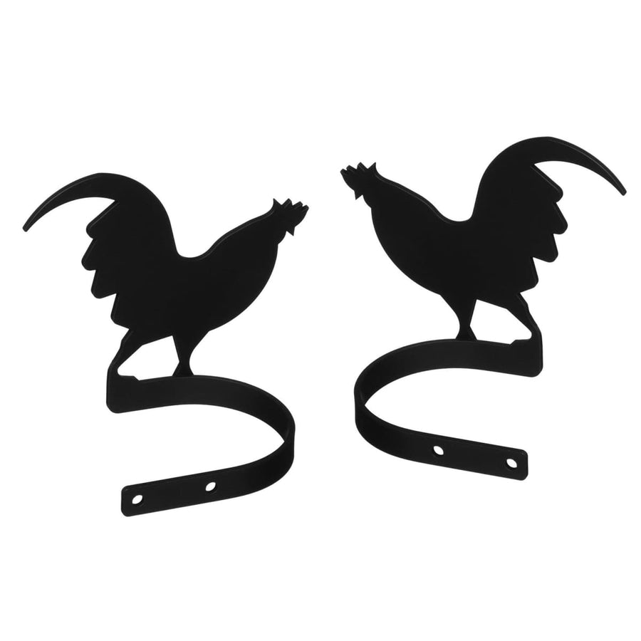 Wrought Iron Rooster Curtain Tie Back Set curtain accessories curtain holdbacks curtain tie backs