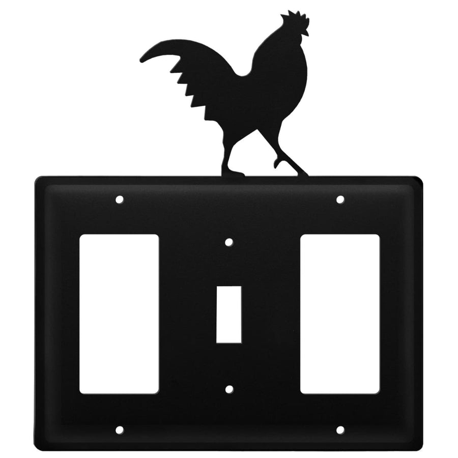 Wrought Iron Rooster GFCI Switch GFCI Cover light switch covers lightswitch covers outlet cover