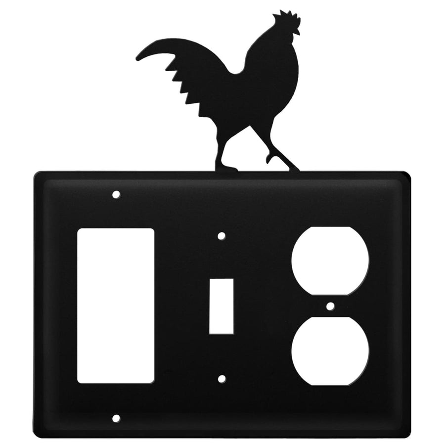Wrought Iron Rooster GFCI Switch Outlet Cover light switch covers lightswitch covers outlet cover