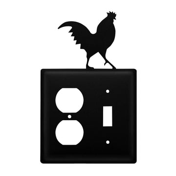 Wrought Iron Rooster Outlet & Switch Cover featured light switch covers lightswitch covers outlet