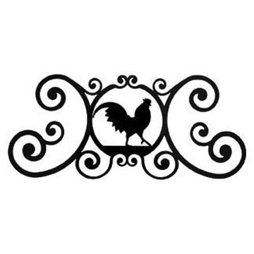 Wrought Iron Rooster Over Door Plaque door plaque house signs metal name plaques metal plaques name