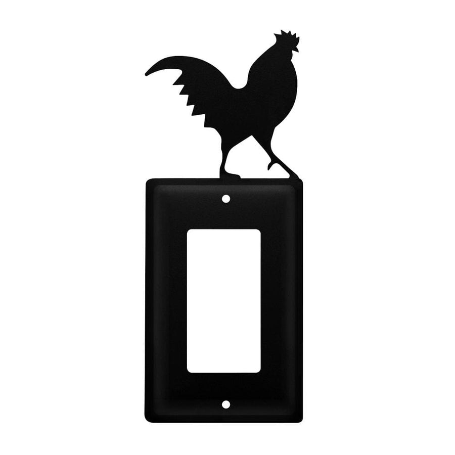 Wrought Iron Rooster Single GFCI Cover light switch covers lightswitch covers outlet cover switch