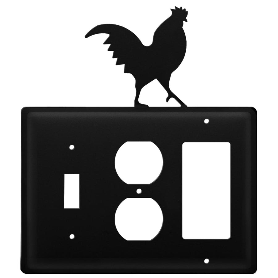 Wrought Iron Rooster Switch Outlet GFCI Cover light switch covers lightswitch covers outlet cover