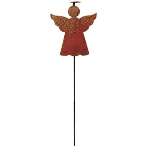 Wrought Iron Rusted Angel Garden Stake 35 Inches Christmas decorations garden art garden decor